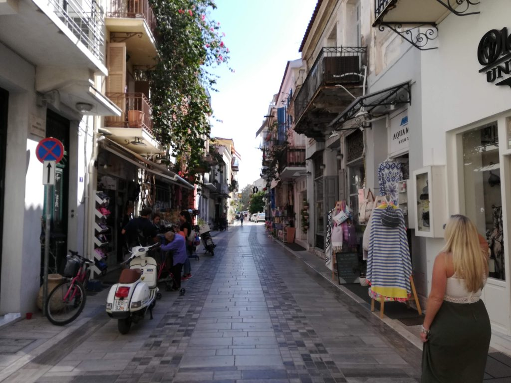 Napflion Greece, Historic shops and downtown centers